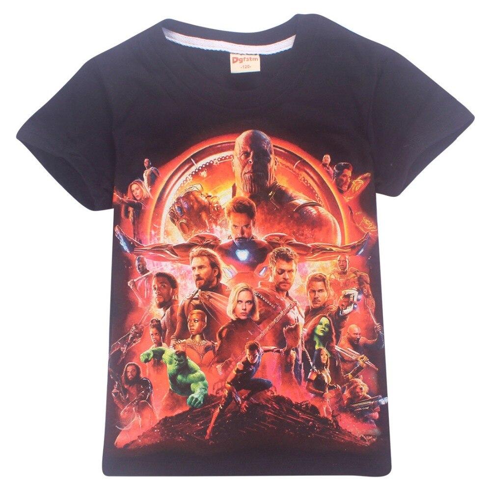 2018 Summer Kids T shirt Boys Clothes Avengers Infinity War Superhero Thanos Hulk Tshirts For Girls Children Clothing Ninjago
