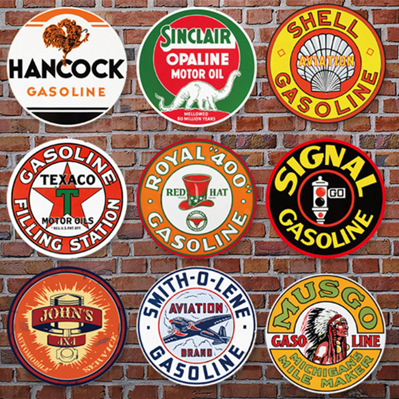 Gasoline Company Series Metal Tin Signs Home Art Decor Iron Poster Home Decorative Retro Wall Art for Bar Pub or Gas station