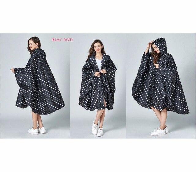 Женские стильные непромокаемые дождевики = пончо, плащ с капюшоном и молнией