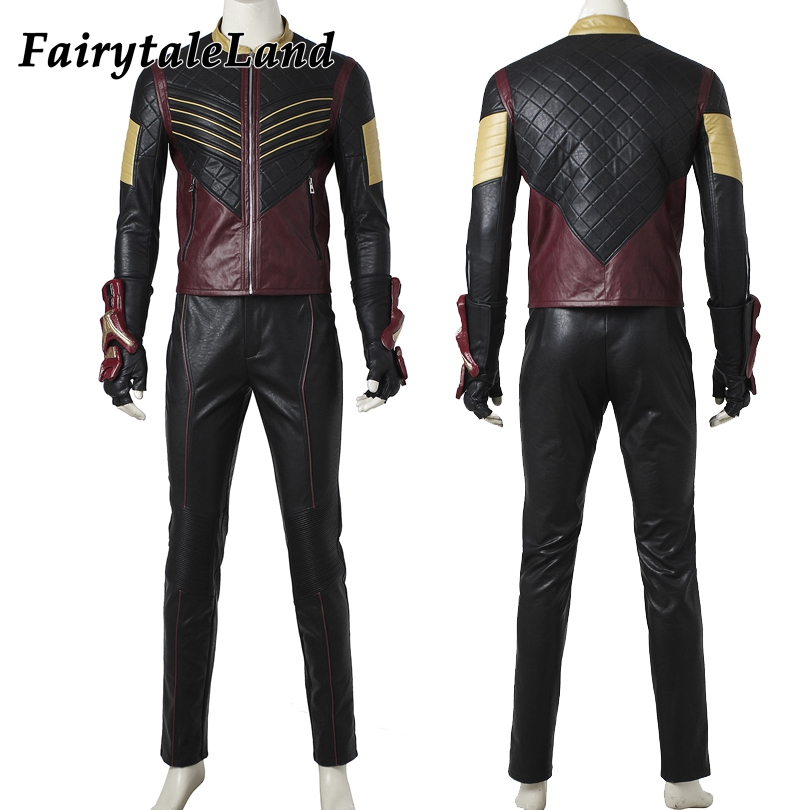 The Flash Vibe Cosplay Costume adult Halloween costumes Flash superhero Vibe costume the Flash Season 3 Cosplay Clothing