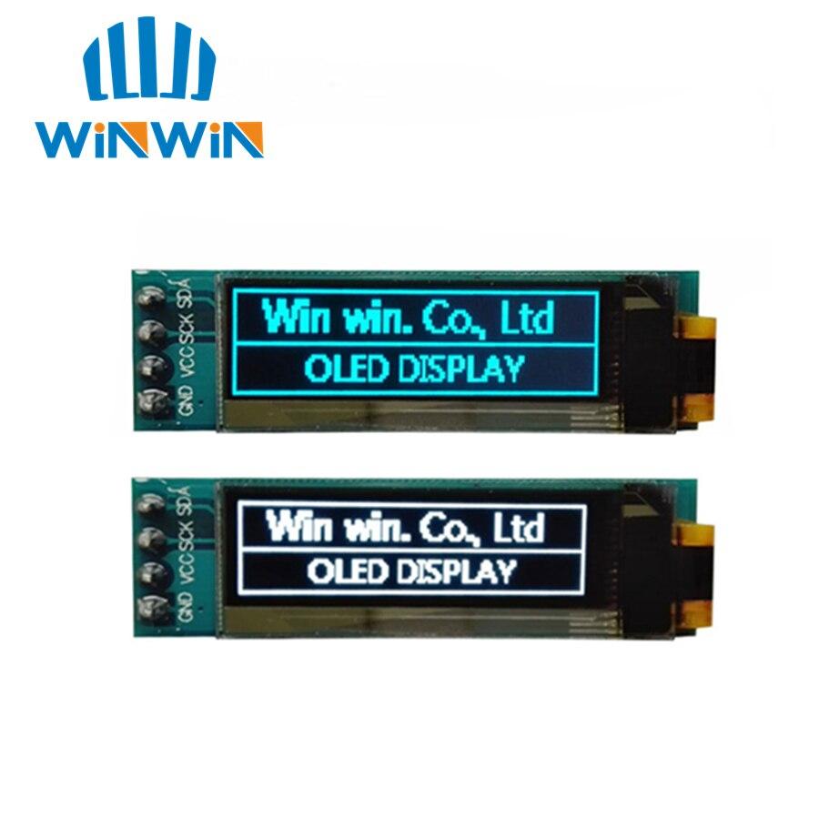 """1 Uds. Módulo OLED de 0,91 pulgadas 0,91 """"Blanco/azul OLED 128X32 OLED LCD Módulo De Pantalla Led 0,91"""" IIC Communicate"""