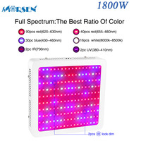 1 pcs Espectro Completo 1800 W Fichas Duplas 180 LEDs Cresce A Luz Led Vermelho/Azul/UV/IR/branco Painel de Lâmpada para hidroponia Indoor Crescer Tent15