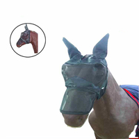Top Quality Horse Face Head Cover Horse Riding Racing Equipment Cheval Equestrian Paardensport Against Mosquitoes And