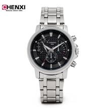 CHENXI Relógios Homens de Luxo Da Marca Homens Relógio de Quartzo 50 M À Prova D' Água Relógio Militar Banda de Aço Analógico Relogio Homens Relógio Moda estilo