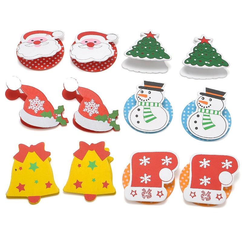 12 Pcs Saco 6 Tipos Dos Desenhos Animados Enfeites De Papai Noel