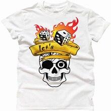 2018 последние Для мужчин футболка модная игра в кости casino дом давайте опасности Лас-Вегас футболка Забавный подарок череп топ