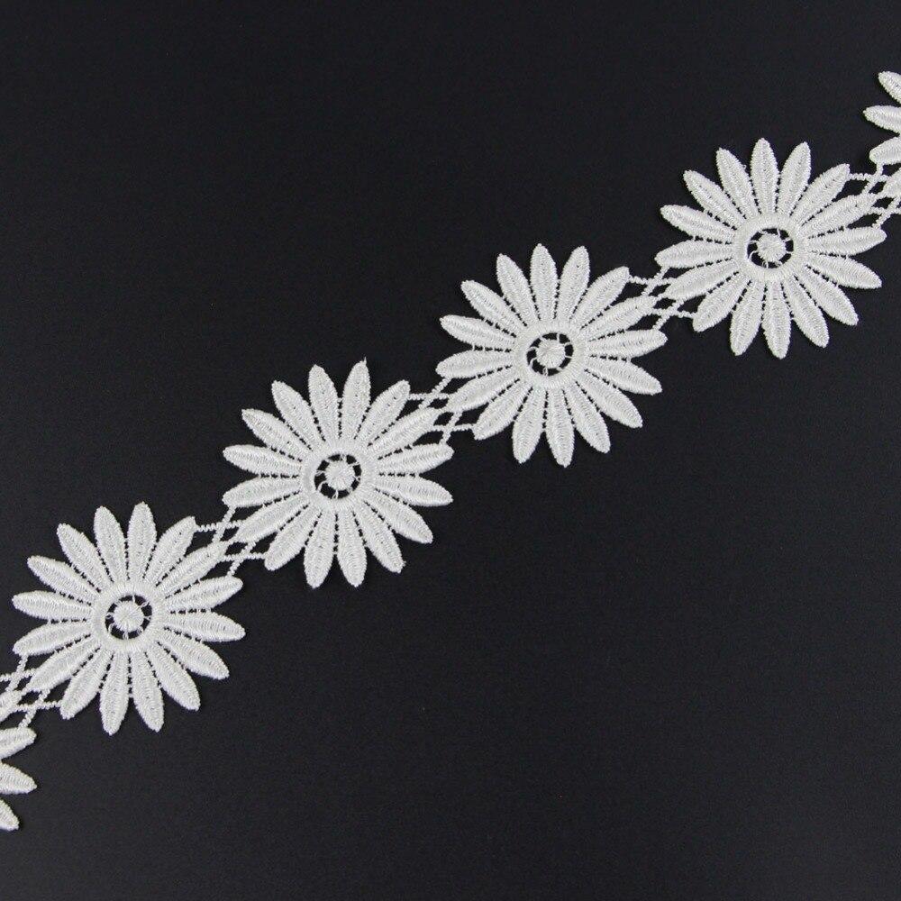 2 Yds 61mm Off White Fabric Flower Venise Venice Lace Trim Applique