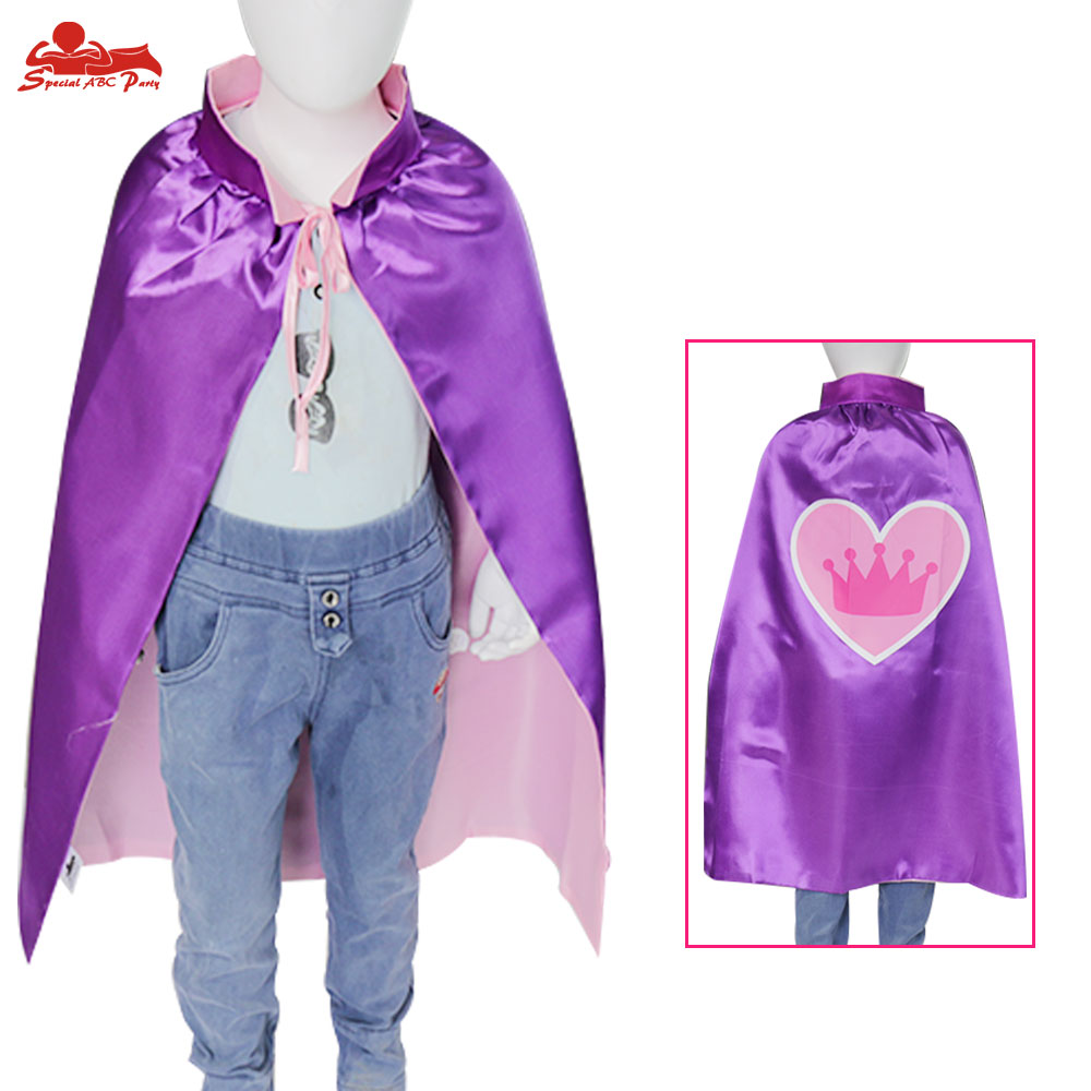 SPECIAL 70*70 cm Girls Princess Queen Cape With Mask Crown Fancy Cloak Party Favors Dress Up Brand Gifts Ester Cosplay Costume