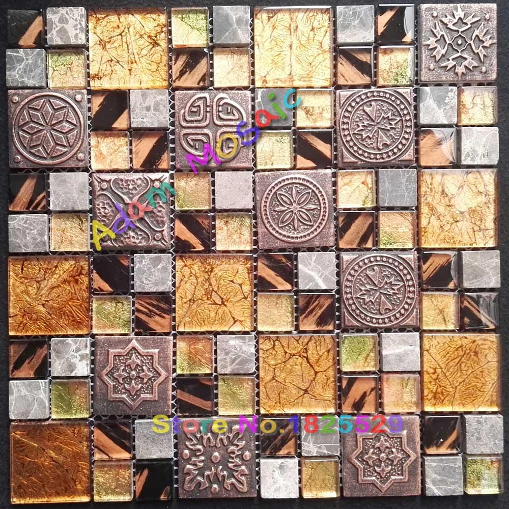 Mosaic Tile Pattern Kitchen Backsplash