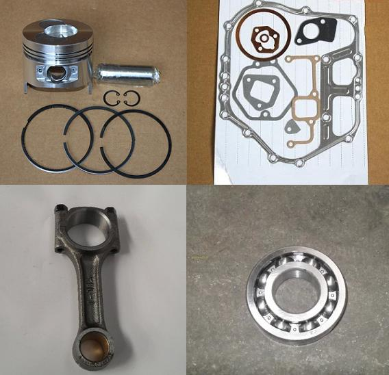 Fast Shipping 186F  diesel engine Piston +pin+ring, connecting rod + bearing, gasket chinese brand suit for kipor kama fast ship diesel engine 188f conical degree crankshaft taper use on generator suit for kipor kama and all chinese brand