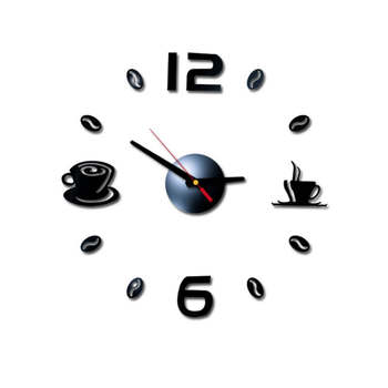40cm Self-adhesive PVC Affixed With 3D DIY Roman Numbers Acrylic Mirror Wall Sticker Clock Home Living Room Silent Clock 19Apr1