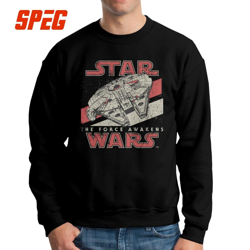 Darth Vader Star Wars De Kracht Wekt Vii Mannen Sweater Vintage 100% Katoen Crewneck Merk Hoodies Voor Heren