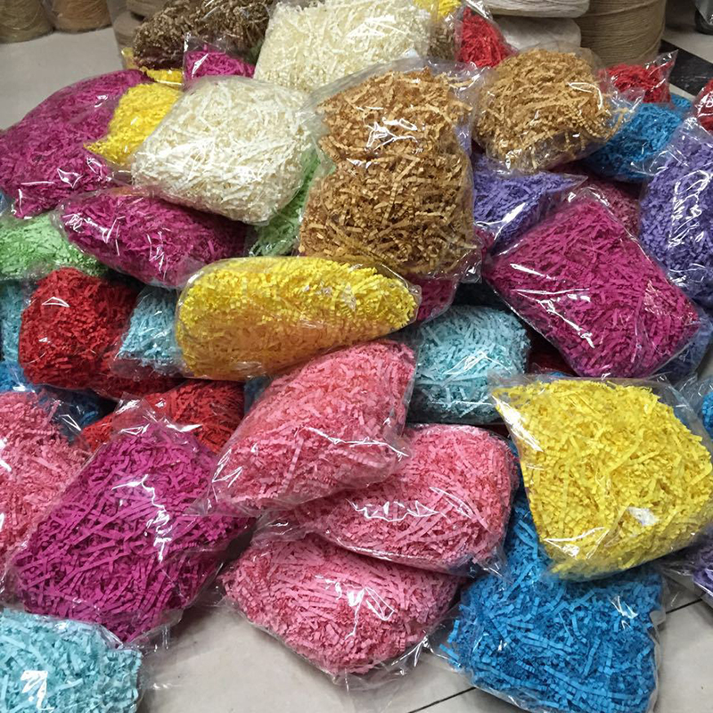 Shredded paper for gift baskets