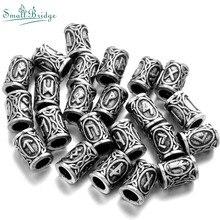Anel viking vintage, barba, cabelo pequeno, acessórios pulseira diy, charme, cor prata, anel, tubo de contas de metal, fonte c24
