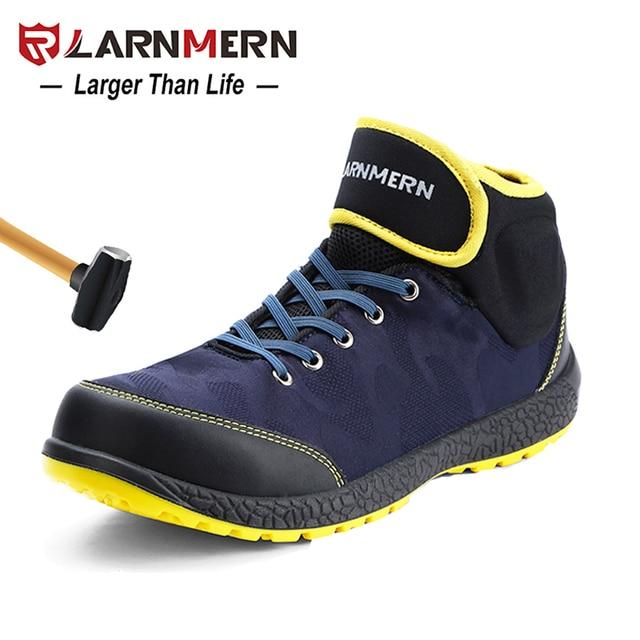 LARNMERN Mens Toe Thép An Toàn Khởi Động Công Việc S1P Trọng Lượng Nhẹ Thoáng Khí Chống-Chống đập Chống đâm thủng Chống-tĩnh Bảo Vệ giày