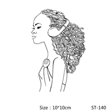 AZSG Pretty African Girl Clear Stamps/Seals For DIY Scrapbooking/Card Making/Album Decorative Silicone Stamp Crafts