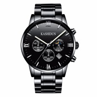 KASHIDUN Men S Watches Top Brand Luxury Military Luminous Casual Wristwatch Chronograph Steel Quartz Watch Relogio