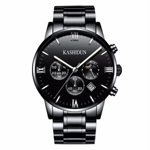 KASHIDUN. Men's Watches Top Brand Luxury Military Luminous Casual Wristwatch Chronograph Steel Quartz Watch relogio masculino