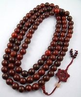 18mm Huge Tibetan Buddhism 108 Red Sandalwood Prayer Bead Mala Necklace