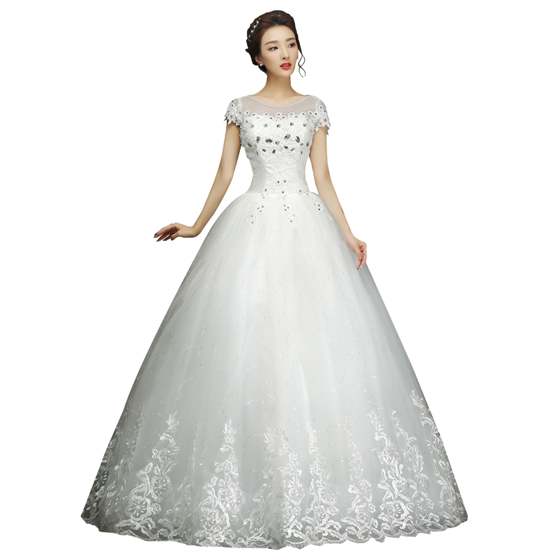 Wedding Dress Bride Simple Large Size Lace Up Wedding Dresses Shoulder Ball Gowns Dress