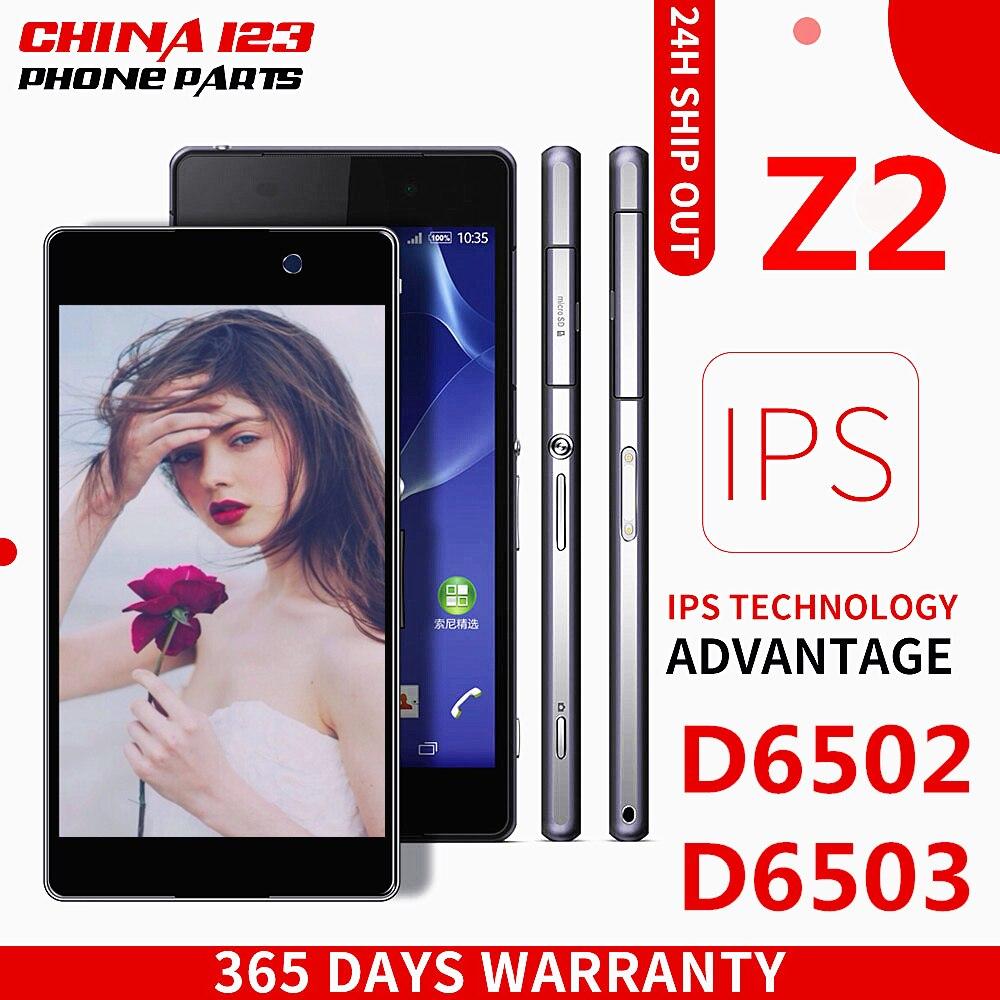 Pour Sony Xperia Z2 L50W D6502 D6503 LCD Affichage Écran Tactile Panneau de Remplacement Assemblée Complet Digitizer Téléphone Réparation Partie Cadre