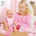 Frete Grátis BDCOLE 41 cm Super Cute Simulação Boneca Lifelike Silicone Bebê Recém-nascido xixi Mictório Crianças Pretend Play Voz boneca brinquedo
