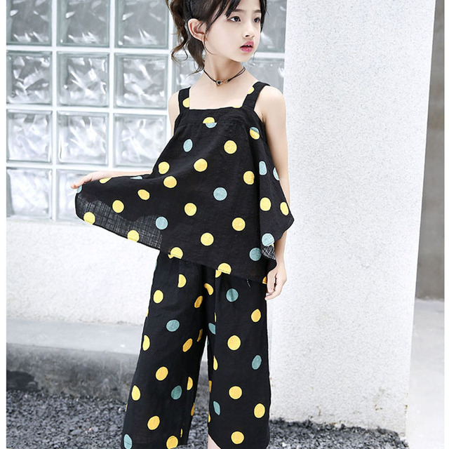 d623f17f5de teenage girls set clothes 13 15 11 9 7 years toddler kids fashion top pant  two piece children summer suit girl boutique outfits