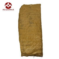 AEGISMAX 95 White Goose Down Sleeping Bag Winter Fan Shape With Sack Ultralight Lengthened Outdoor Camping