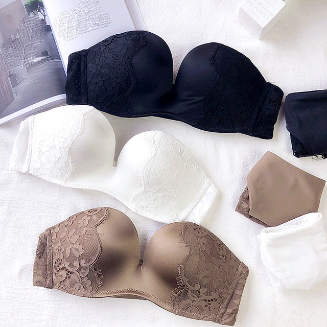 4242e3daac 1 2 bride Lingerie Bra Set Sexy Lingerie Set Underwear Women Set seamless  one-piece white Push Up Bra Panties Bralette Set