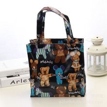 Design Cute Kawaii Cartoon Anime Cat Print PVC Tote Bag Women Fashion Handbags School Travel Shopping Shoulder Bags Reusable цена 2017