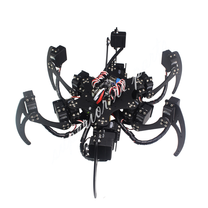 18 DOF Алюминий Hexapod Паук Шесть 3DOF Ноги робот рамки комплект с шарикоподшипник полностью совместим скидка 50%