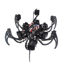 18 DOF Aluminium Hexapod Spider Six 3DOF Legs Robot Frame Kit with Ball Bearing Fully Compatible 50% OFF(China)