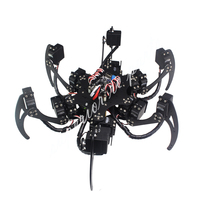 18 DOF Aluminium Hexapod Spider Six 3DOF Legs Robot Frame Kit with Ball Bearing Fully Compatible 50% OFF