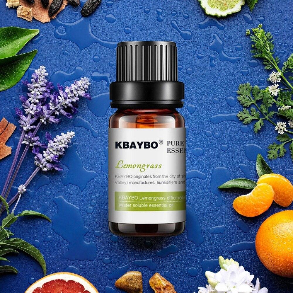 Esenciální olej pro difuzory, Aromaterapeutický olejový zvlhčovač 6 druhů parfémů levandule, čajovníku, rozmarýnu, citrónové trávy, pomeranče