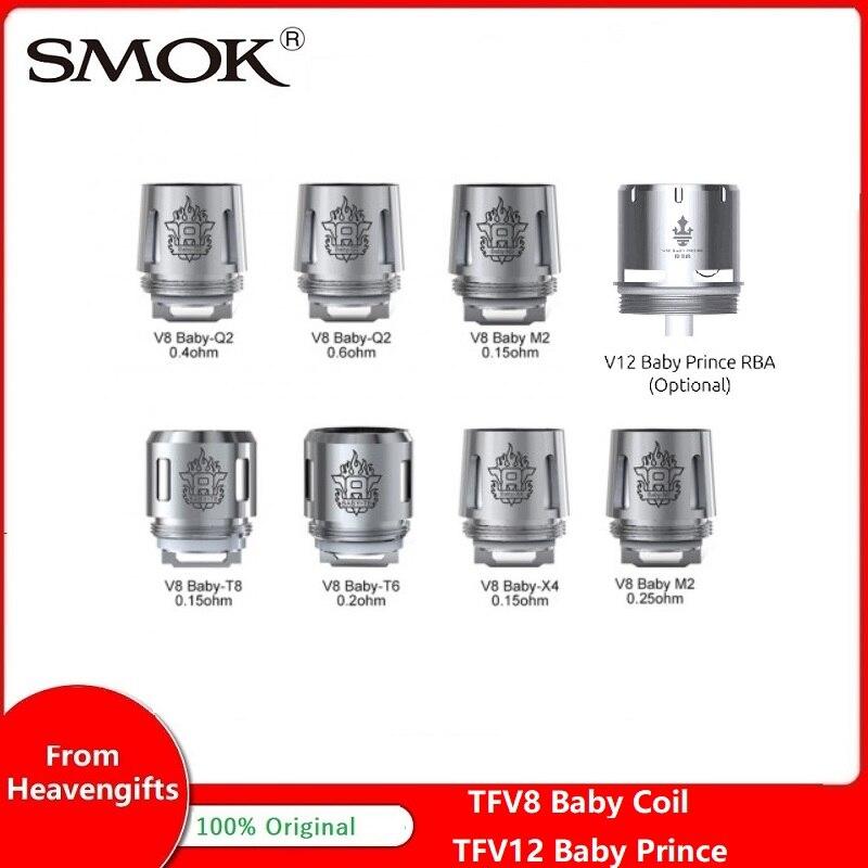 SMOK TFV12 bébé Prince RBA bobine/TFV8 bébé bobine Q2/T8/X4/T6/M2/RBA bobine pour TFV12 bébé Prince réservoir/TFV12 grand bébé Prince réservoir