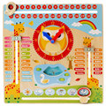 Multi-functional Wooden Educational Toys Children Early Learning Cartoon Owl Clock Season Weather Board Intelligence Toy CC0266H