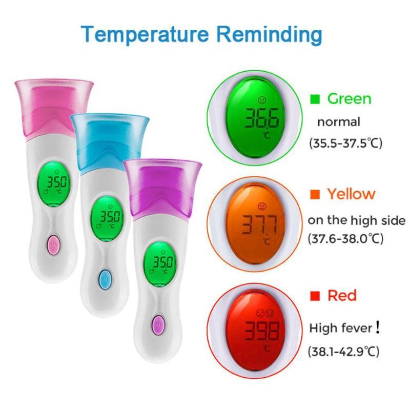 Multi-funzione 8 in 1 Bambino Adulto Termometro Digitale A Infrarossi Pistola Misurazione della Temperatura Della Fronte Orecchio Fronte Corpo Termometro