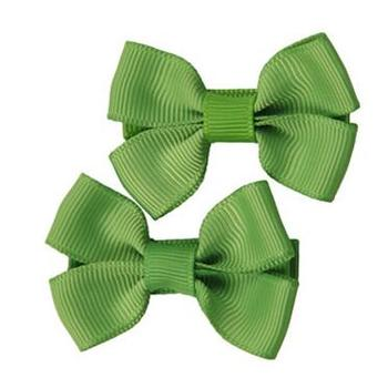 200pcs/lot  Green Kids-and-Pet-dog-head-flower-hairpin-clip-hair-bow