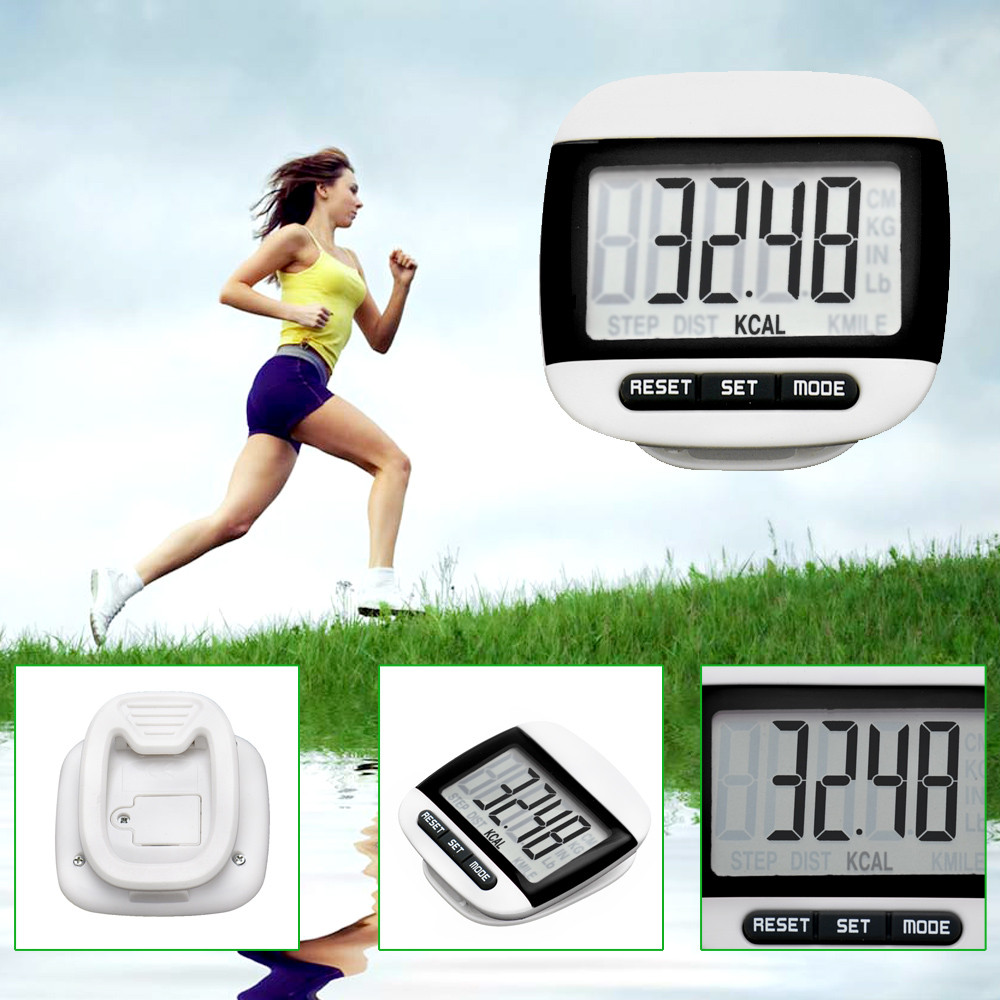 2018 New Arrival ElectronicCalorie Counter Distance Waterproof  Pedometer Portable Walking Digital LCD Run Step Pedometers
