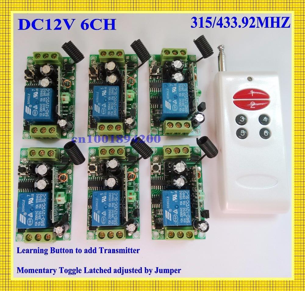 Dc 12v 6ch 10a Relay Receiver Remote Switch Rc Radio Wireless Light Universe Button Controller No Com Nc 6receiver