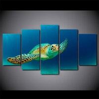 HD с 5 шт. стены Книги по искусству холст картины черепаха Ocean животного Книги по искусству работы гостиной Декор большое полотно Оптовая дост...