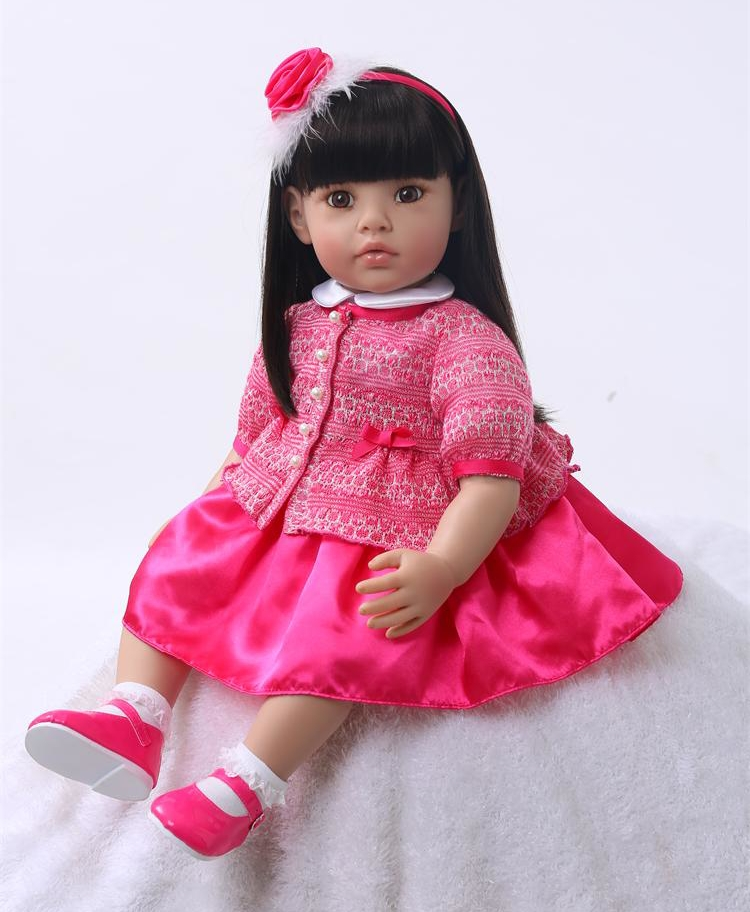 60cm Silicone Reborn Baby Doll Toys Like Real 24inch Vinyl Princess Toddler Babies Dolls Kids Birthday Gift Play House Bedtime60cm Silicone Reborn Baby Doll Toys Like Real 24inch Vinyl Princess Toddler Babies Dolls Kids Birthday Gift Play House Bedtime