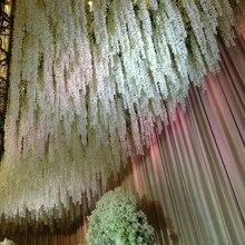 5 pcs 100cm Artificial Flower Vine DIY Wedding Decor String For Home Party Wall Ceiling Decoration Wreath