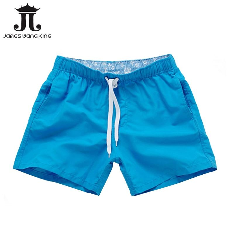 Summer Board shorts hommes casual solide Mi shorts de Plage de mode imprimé Taille shorts homme Droite Cordon shorts S-XXL vente Chaude
