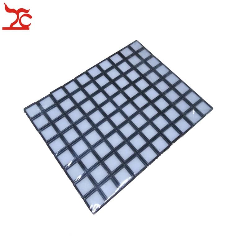 Wholesale 80Pcs Square Plastic Loose Diamond Display Package Case Black Gem Case White Foam Pad Beads