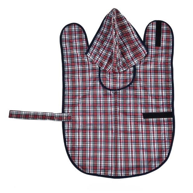 Dog's Plaid Pattern Waterproof Jacket