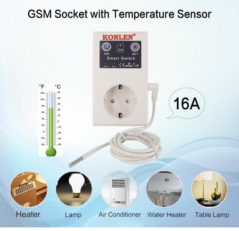 напольная розетка; система температурной сигнализации ; GSM розетки ;