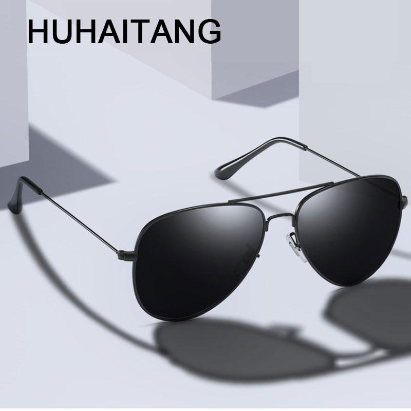 HUHAITANG Aviation Sunglasses Men Luxury Brand Pilot Sun Glasses Women Brand Designer Sunglases Mens Vintage Sunglass For Man