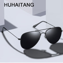 HUHAITANG Aviation Sunglasses Men Luxury Brand Pilot Sun Gla