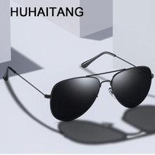 HUHAITANG Aviation Sunglasses Men Luxury Brand Pilot Sun Gla